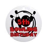 5th Bowling Birthday Ornament (Round)