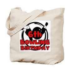6th Bowling Birthday Tote Bag