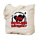 7th Bowling Birthday Tote Bag
