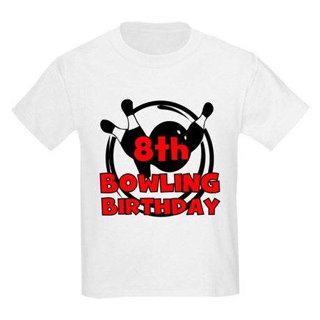 8th Bowling Birthday Kids Light T-Shirt