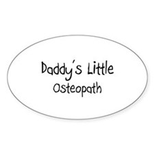 Daddy's Little Osteopath Oval Decal
