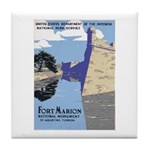 Fort Marion National Monument Tile Coaster
