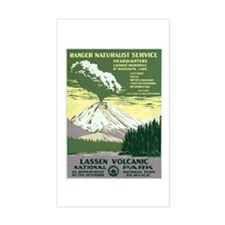 Lassen Volcanic National Park Rectangle Decal