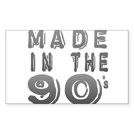 Made in the 90's Rectangle Sticker