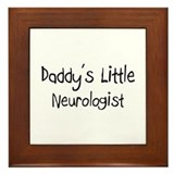 Daddy's Little Neurologist Framed Tile
