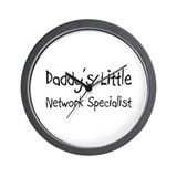Daddy's Little Network Specialist Wall Clock
