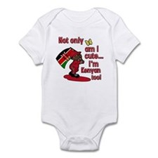 Not only am I cute I'm Kenyan too! Infant Bodysuit