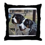 Funny Swiss mountain dog Throw Pillow