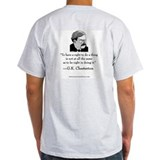 "Chesterton Signature Grey T: ""To have a right"""