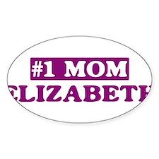 Elizabeth - Number 1 Mom Oval Decal
