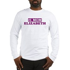 Elizabeth - Number 1 Mom Long Sleeve T-Shirt