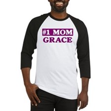Grace - Number 1 Mom Baseball Jersey