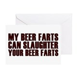 Killer Beer Fart Challenge Greeting Card