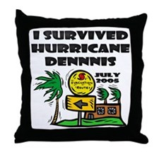 Hurricane Dennis Evacuation Throw Pillow