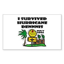 Hurricane Dennis Evacuation Rectangle Decal