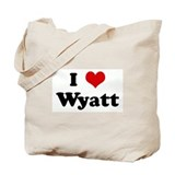 I Love Wyatt Tote Bag