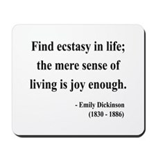 Emily Dickinson 20 Mousepad