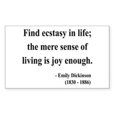 Emily Dickinson 20 Rectangle Decal