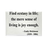Emily Dickinson 20 Rectangle Magnet