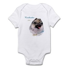 Keeshond Best Friend 1 Infant Bodysuit