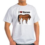 Love My Horse Ash Grey T-Shirt