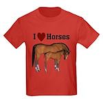 Love My Horse Kids Dark T-Shirt
