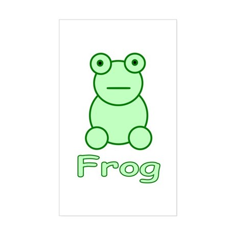 Funny Frog Rectangle Sticker
