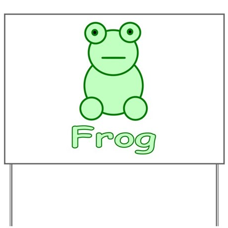 Funny Frog Yard Sign