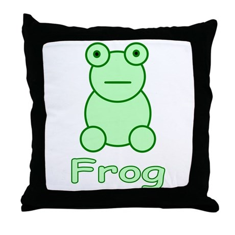 Funny Frog Throw Pillow