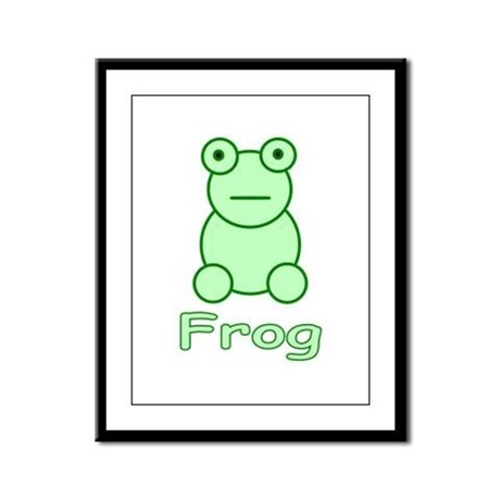 Funny Frog Framed Panel Print