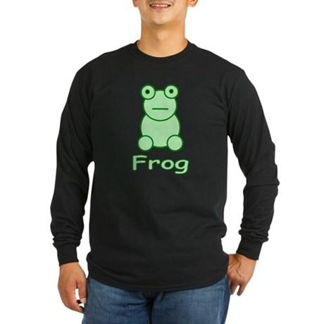 Funny Frog Long Sleeve Dark T-Shirt