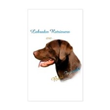 Choclate Lab Best Friend 1 Rectangle Decal