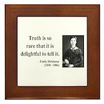 Emily Dickinson 19 Framed Tile