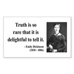 Emily Dickinson 19 Rectangle Sticker