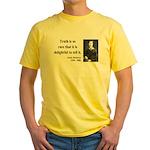 Emily Dickinson 19 Yellow T-Shirt