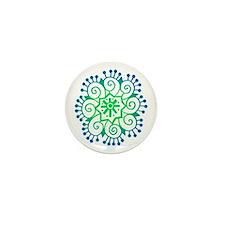 Henna Tattoo in BlueGreen Mini Button