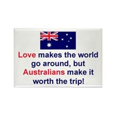 Love Australians Rectangle Magnet