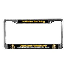 Underwater Hardhat Diver, License Plate Frame