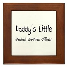 Daddy's Little Medical Technical Officer Framed Ti