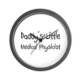 Daddy's Little Medical Physicist Wall Clock
