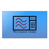 Microwave Ready Rectangle Sticker 10 pk)