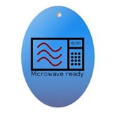 Microwave Ready Oval Ornament