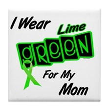 I Wear Lime Green For My Mom 8 Tile Coaster