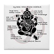 """Ganesh 101"" Tile Coaster"