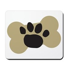 Dog Lover Paw Print Mousepad