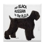 Black russian HOH Tile Coaster