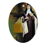 St Teresa of Avila Oval Ornament