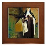 St Teresa of Avila Framed Tile