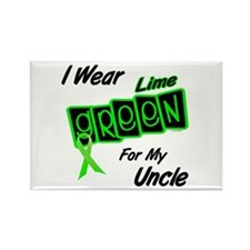 I Wear Lime Green For My Uncle 8 Rectangle Magnet