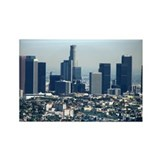 Helaine's LA Skyline Rectangle Magnet